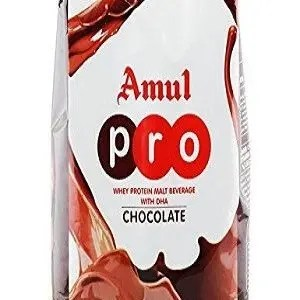 Amul Pro Whey Protein Malt Beverage With DHA Chocolate 500 Grams Pouch