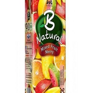 B Natural Juice Mixed Fruit Merry 1 Litre Carton
