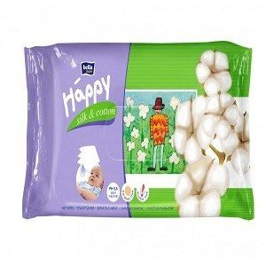 Bella Baby Happy Wet Wipes – Silk & Cotton, 64 pcs
