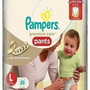 Pampers Premium Care Pants Diapers – Large Size, 20 pcs