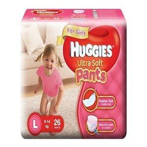Huggies Ultra Soft Pants Girls Premium Diapers – Medium, 30 pcs