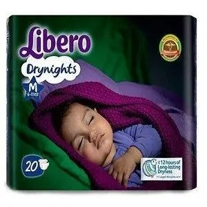 Libero Drynights Open Diapers Medium 6 to 11 kg, 20 pcs