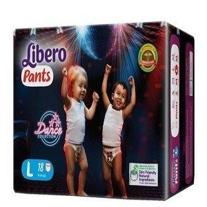 Libero Pant Diapers – L, 18 pc Pouch
