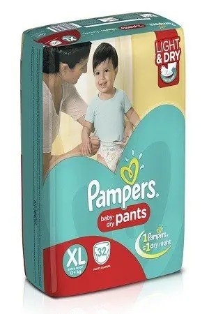 Pampers Pants Diapers – Extra Large Size, 16 nos Pouch