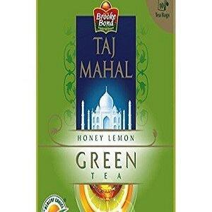 Taj Mahal Green Tea Bags Honey Lemon 25 Pcs