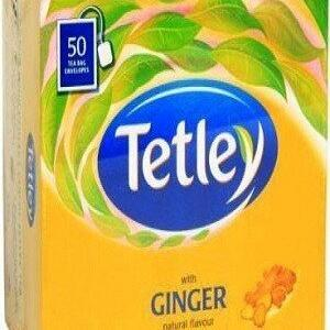 Tetley Tea Bags Ginger 50 Pcs Carton