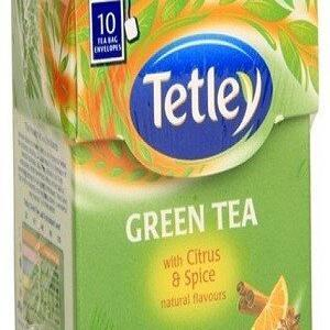 Tetley Green Tea Bags Citrus And Amp Spice 10 Pcs Carton