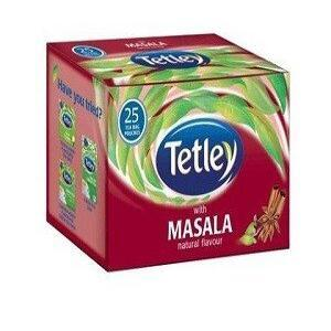 Tetley Tea Bags Masala 25 Pcs Carton
