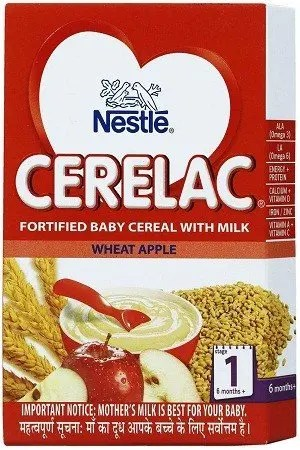 Nestle Cerelac - Wheat Apple (Stage 1), 300 gm Carton