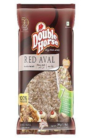 Double horse Aval – Red, 500 gm Pouch