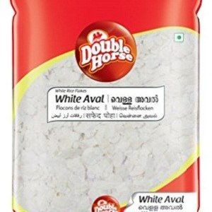 Double horse Aval – White, 500 gm Pouch