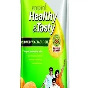 Emami Healthy & Tasty – Refined Vegetable Oil, 1 ltr Pouch