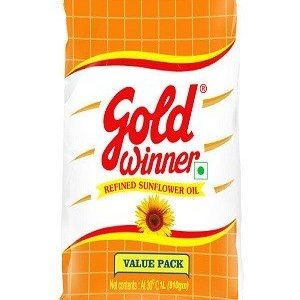 Gold Winner Refined Oil - Sunflower, 500 Ml Pouch