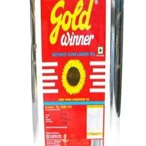 Gold Winner Refined Oil – Sunflower Horeca, 15 kg Tin