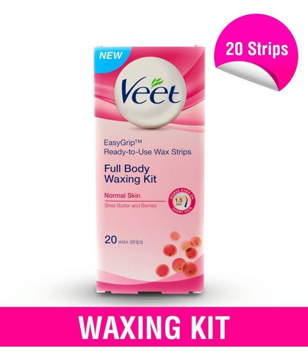 Veet Full Body Waxing Kit Normal Skin 20 Strips