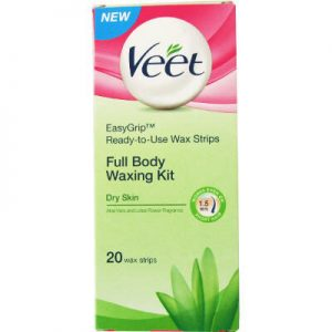 Veet Full Body Waxing Kit Dry Skin 20 Strips
