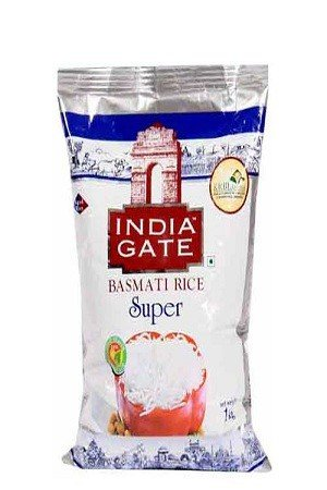 India Gate Basmati Rice – Super, 1 kg Pouch