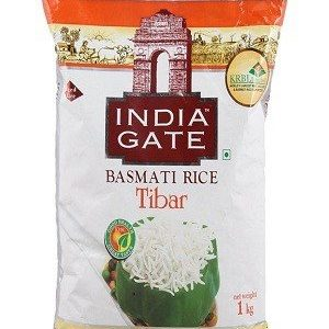 India Gate Basmati Rice – Tibar, 1 kg Pouch