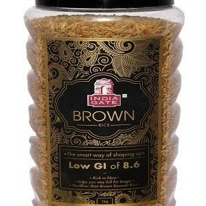 India Gate Rice – Brown, 1 kg Jar