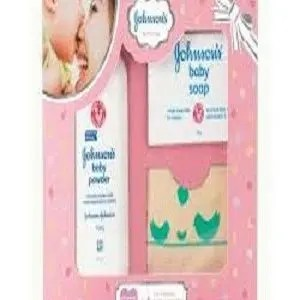 Johnson's Baby Care Collection – with Organic Cotton Bib, 3 pcs