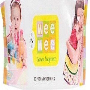 Mee Mee Baby Wipes-Lemon Fragrance, 30 pcs Pouch ( Pack of 5 )
