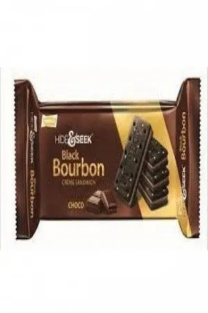 Parle Hide & Seek – Black Bourbon Creme Sandwich (Chocolate Flavor), 100 gm Pouch