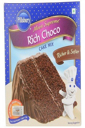 Pillsbury Cake Mix – Moist Supreme Rich Choco, 285 gm Carton