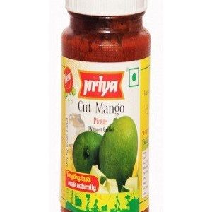 Priya Pickle – Cut Mango (Without Garlic), 300 gm Bottle