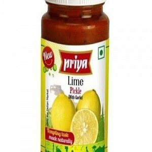Priya Pickle – Lime (Without Garlic), 300 gm Bottle