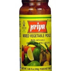 Priya Pickle – Mixed Vegetable (With Garlic), 300 gm Bottle