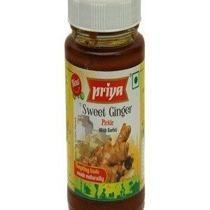 Priya Pickle – Sweet Ginger (Without Garlic), 300 gm Bottle
