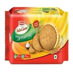 Britannia Nutri Choice Cookies Thin Arrowroot Biscuits 150 Grams Pouch