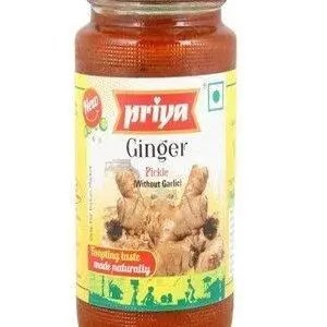 Priya Ginger Pickle Without Garlic 300 Grams