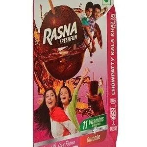 Rasna Fruitfun – Chowpatty Kala Khatta Flavor, 120 gm (32 Glasses) Carton