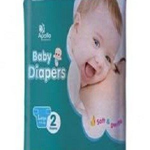 Apollo Pharmacy Baby Diapers – Large, 2 pcs