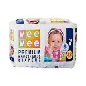 Mee Mee Premium Small Size Diapers, 22 pcs Pouch