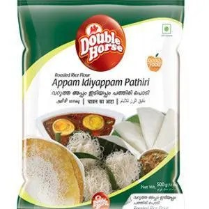 Double horse Appam – Idiyappam Pathiri, 500 gm Pouch