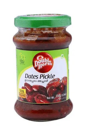 Double horse Dates Pickle, 400 gm Bottle