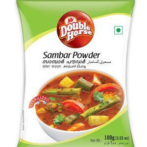 Double horse Powder – Sambar, 100 gm Pouch