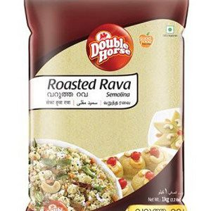 Double horse Rava – Roasted, 500 gm Pouch