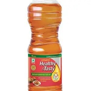 Emami Healthy & Tasty – Kachchi Ghani Mustard Oil, 1 ltr Bottle