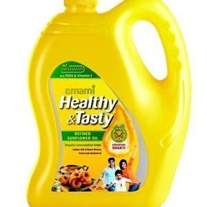 Emami Healthy & Tasty – Refined Sunflower Oil, 5 lt Can