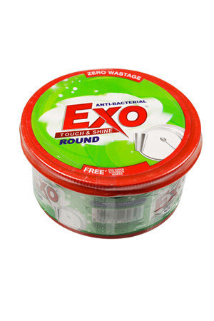 Exo Dish Wash - Round Anti Bacterial With cyclozan, 250 gm