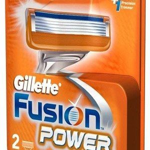 Gillette Fusion Power Shaving Razor Blades Cartridge 2 Pcs