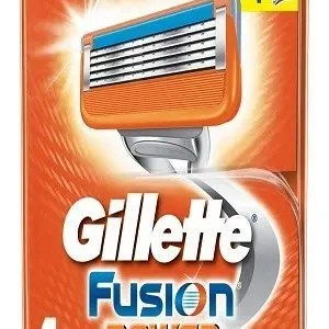 Gillette Fusion Power Shaving Razor Blades Cartridge 4 Pcs