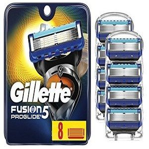 Gillette Fusion Manual Shaving Razor Blades Proglide FlexBall Cartridge 8 Pcs