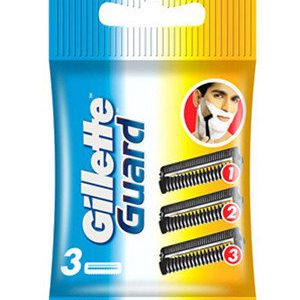 Gillette Manual Shaving Razor Blades Guard Cartridge 3 Pcs Pouch