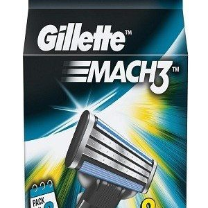 Gillette Mach 3 Manual Shaving Razor Blades Cartridge 8 Pcs