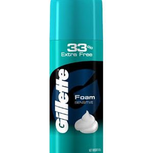 Gillette Pre Shave Foam Classic Sensitive Skin 418 Grams