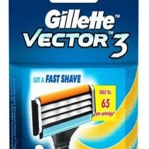 Gillette Vector 3 Manual Shaving Razor Blades Cartridge 2 Pcs Pouch